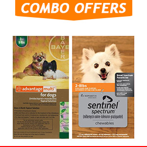 Advantage Multi & Sentinel Spectrum Combo Pack for Dog Supplies
