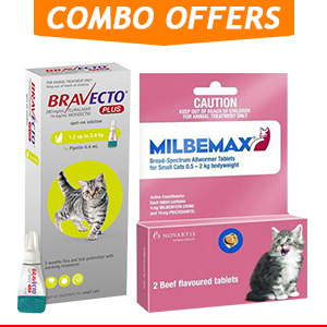 Bravecto Plus + Milbemax Cats Combo Pack for Cat Supplies