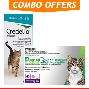 Credelio + Paragard Allwormer Combo Pack for Cat Supplies