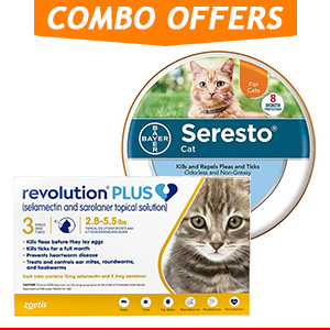 Revolution Plus + Seresto Collar Combo Pack for Cat Supplies