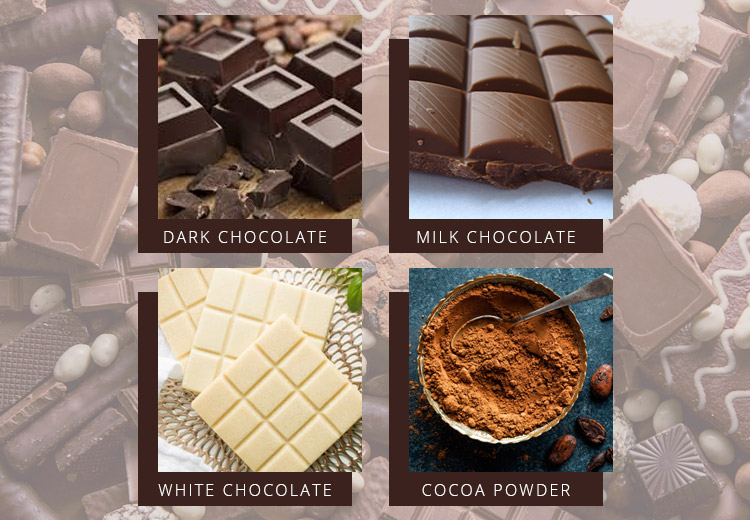 types of chocolates for dogs