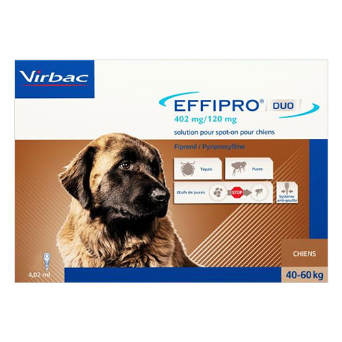Effipro DUO Spot-On  For Extra Large Dogs Over 88 lbs.