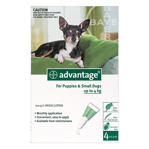 Advantage Small Dogs/ Pups 1-10lbs (Green)