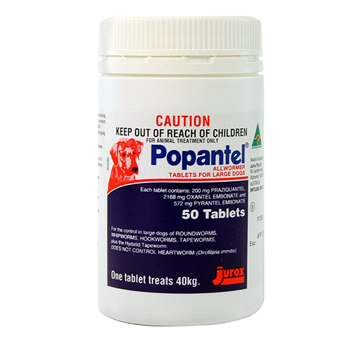 Popantel for Dogs 40 Kgs (88 Lbs)