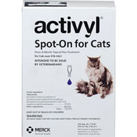 Activyl Flea Control Spot-On For Large Cats Over 9lbs Purple