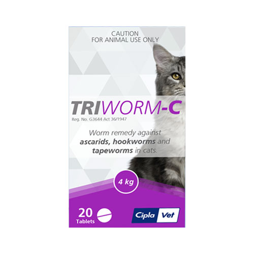 Triworm-C Dewormer for Cats (Expiry: Oct - 2019)