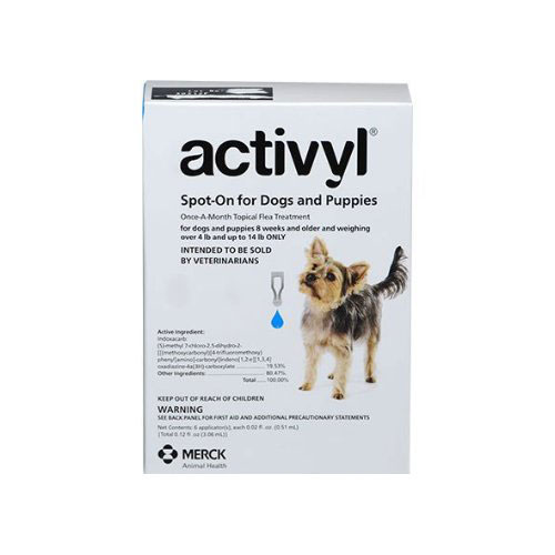 Activyl For Very Small Dogs 4-14 lbs Blue